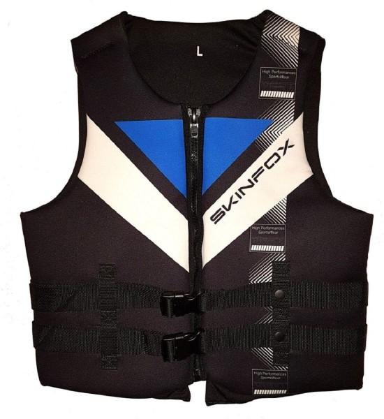 SKINFOX Neopren Schwimmweste (S-2XL) Prallschutz blau