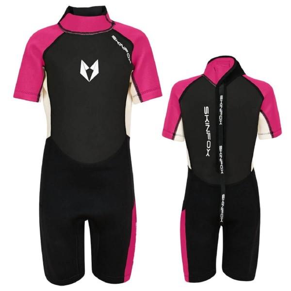 SKINFOX SCOUT 2-16 J. Kinder Shorty Neoprenanzug Schwimmanzug pink