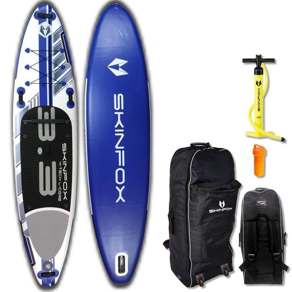 SKINFOX SEAHORSE CARBON-SET (335x78x15) 4-TECH L-CORE SUP Paddelboard blau